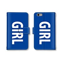 【ノーブランド品】 AQUOS PHONE SERIE mini SHL24 スマホケース 手帳型 ガール GIRL 英字 ブルー 青 かわいい おしゃれ 携帯カバー SHL24 ケース アクオスフォン セリエ ミニ