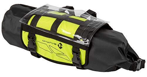 M-WAVE Unisex– Erwachsene Rough Ride Front Fahrrad Lenkertasche neongelb, ca. 59x23 cm