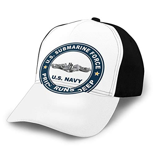 Us Navy Us Submarine Force Pride Runs Deep Silver Dolphins Cap Women Men Baseball Hat Adjustable
