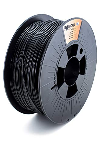Basicfil PET 1.75mm, 1 kg filamento per stampante 3D, Nero