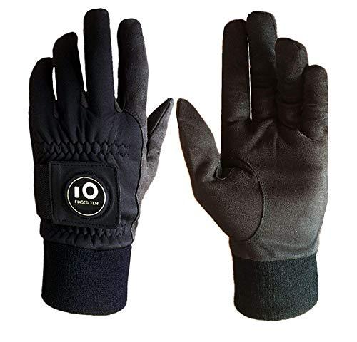 FINGER TEN Golfhandschuhe Herren Winter Mit Ballmarker Grip Performance 1 Paar Golf Handschuhe Kaltes Wetter Winddicht Wasserdicht Größe S M ML L XL (M)