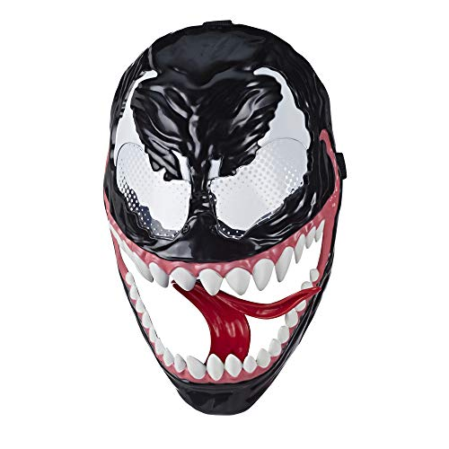 Spider-Man Marvel's Maximum Venom, Venom Mask Role Play Toy, Lever-Activated Swinging Tongue Feature, Adjustable Strap, for Kids Ages 4 and Up