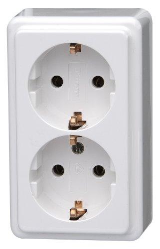 Kopp 102502002 geaard stopcontact 2-voudig, opbouw-standaardprogramma, 16 A, 250 V