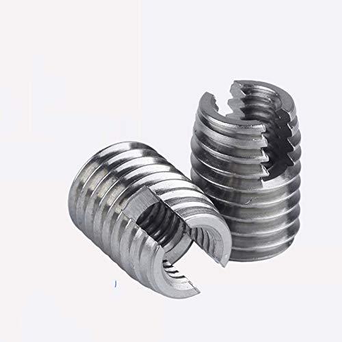 Halo Bolt [M2-M20] Acero inoxidable 302 Estilo Roscas de metal roscado Inserción Inserción autofugio Inserciones de tornillo ranurado roscado Tornillos de litmbrushing (Size : M14(1Pcs))