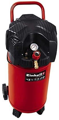 Foto di Einhell TC-AC 200/30/8 OF Compressore (220-240 V, 1100 W, serbatoio aria verticale 30 l, max 8 bar, portata aria max 165 l/min., cilindri 1, autolubrificato -no olio, carrelato, inc. 1 manometro)