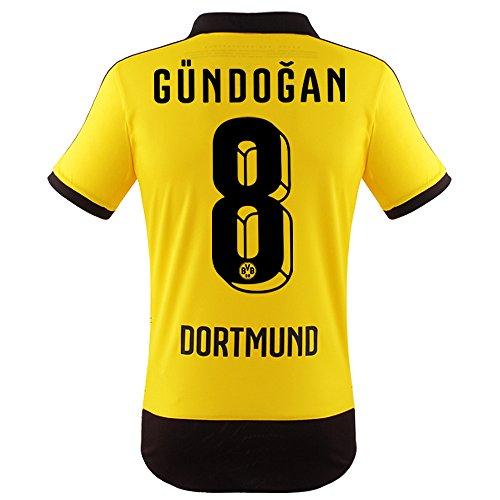 BVB Dortmund Home Trikot 2015/16 - GÜNDOGAN, Kinder Größe 176