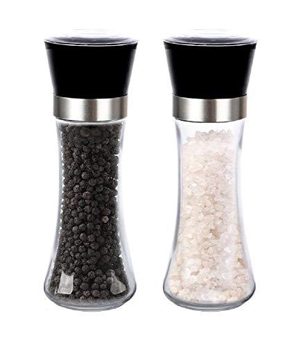 Kit Moedor Triturador de Sal e Pimenta Bela Home Vidro Grande 200ml com 2 unidades