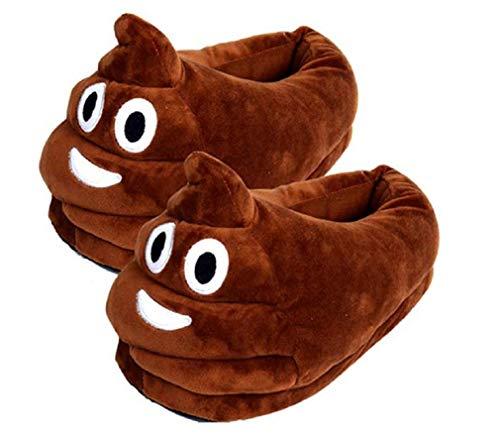 Heartcheng Unisex Cartoon Kreative Emoji Ausdruck Lustige Weiche Paar Hausschuhe,Winter Warm Indoor Schuhe.