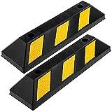 PrimeMatik - Fermaruota per parcheggi in Gomma 55 cm per Ruota e parcheggio 2-Pack