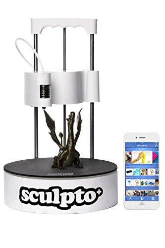 Sculpto+ 3D-printer, volledig gemonteerd met wifi, iOS en Android-connectiviteit - geluidloos - plug&play-printer, groot volume.