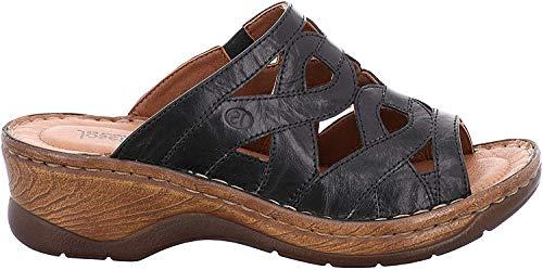 Josef Seibel 56508-61 Catalonia 44 Zuecos de Cuero Mujer, Schuhgröße_1:42 EU;Farbe:Noir