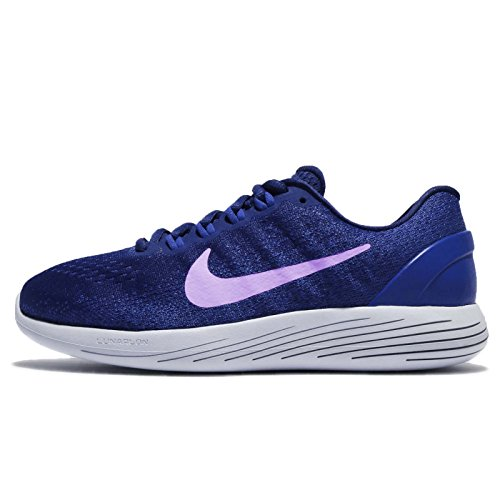 Nike Women's WMNS Lunarglide 9, DEEP Royal Blue/Purple Agate, 5.5 M US