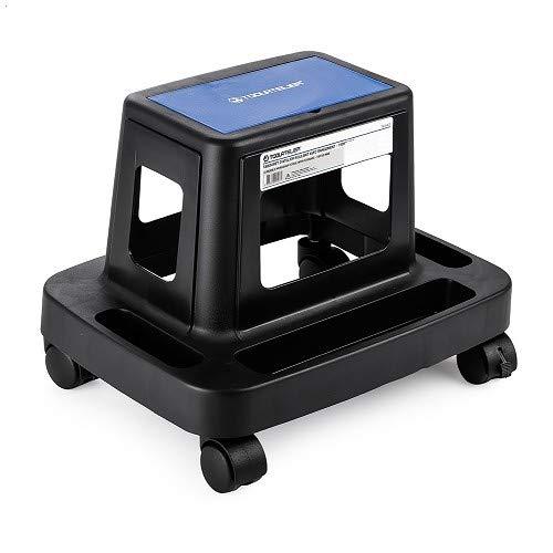 Toolatelier - Taburete de taller enrollable con almacenamiento, 150 kg