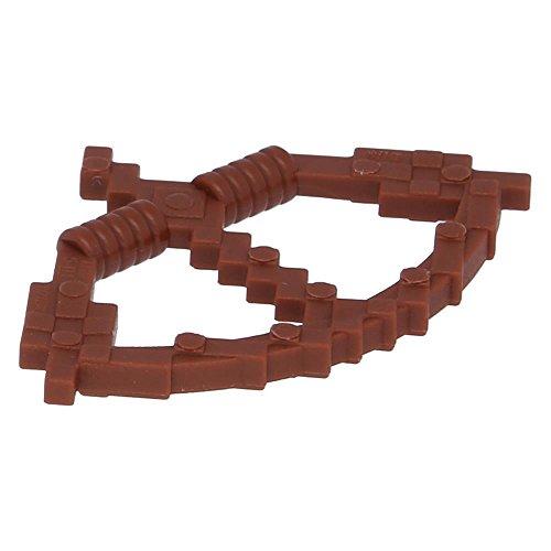 LEGO Figuren, Waffenbogen mit Pfeil (Minecraft Bogen) Rotbraun