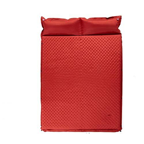 Wjfijz Colchón de Aire Pad Inflable de Estera autoinflante durmiendo Almohadilla Inflable a Prueba de Humedad Doble Tienda de Camping Pad Red-Double