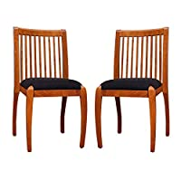 Sweden Side Chairs in Walnut Finish for Kitchen and Dining