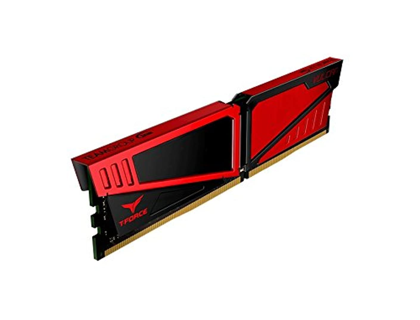 Team TLRED416G3000HC16CDC T-FORCE 16GB VULCAN Red Heatsink (2 x 8GB) DDR4-3000MHz DIMM System Memory - (Components > Memory)