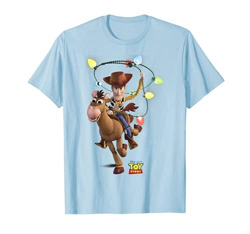 Disney Pixar Toy Story Woody Bullseye X-Mas Light T-Shirt