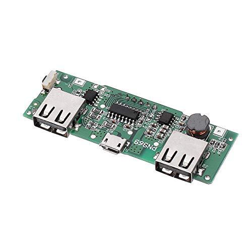 MING-MCZ Duradero Dual USB 5V 2.1A Micro Entrada USB Power Bank 18650 Junta Cargador de batería de sobrecarga Sobredescarga Protección de Corto Circuito LED Fácil de Montar