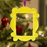 Sealuxe Friends Christmas Ornaments,Friends Peephole Frame with Christmas Ribbon,Friends TV Show Merchandise,Friends TV Show Gifts,Friends Ornament,Friends Merch
