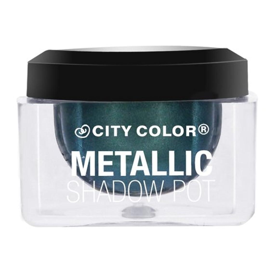 間接的伝統決定(6 Pack) CITY COLOR Metallic Shadow Pot - Meteor Shower (並行輸入品)