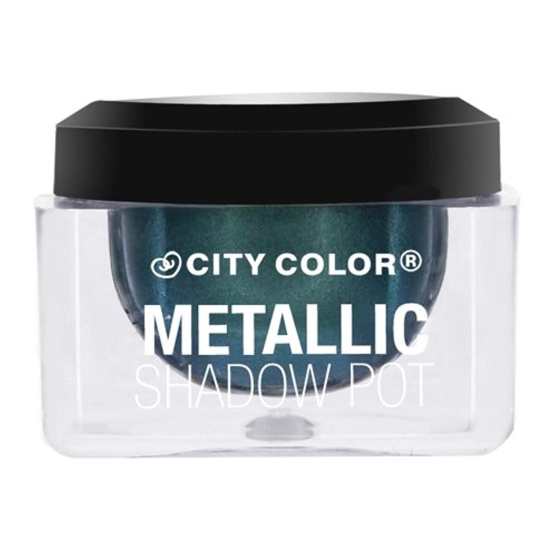かすれたうれしい修羅場(6 Pack) CITY COLOR Metallic Shadow Pot - Meteor Shower (並行輸入品)