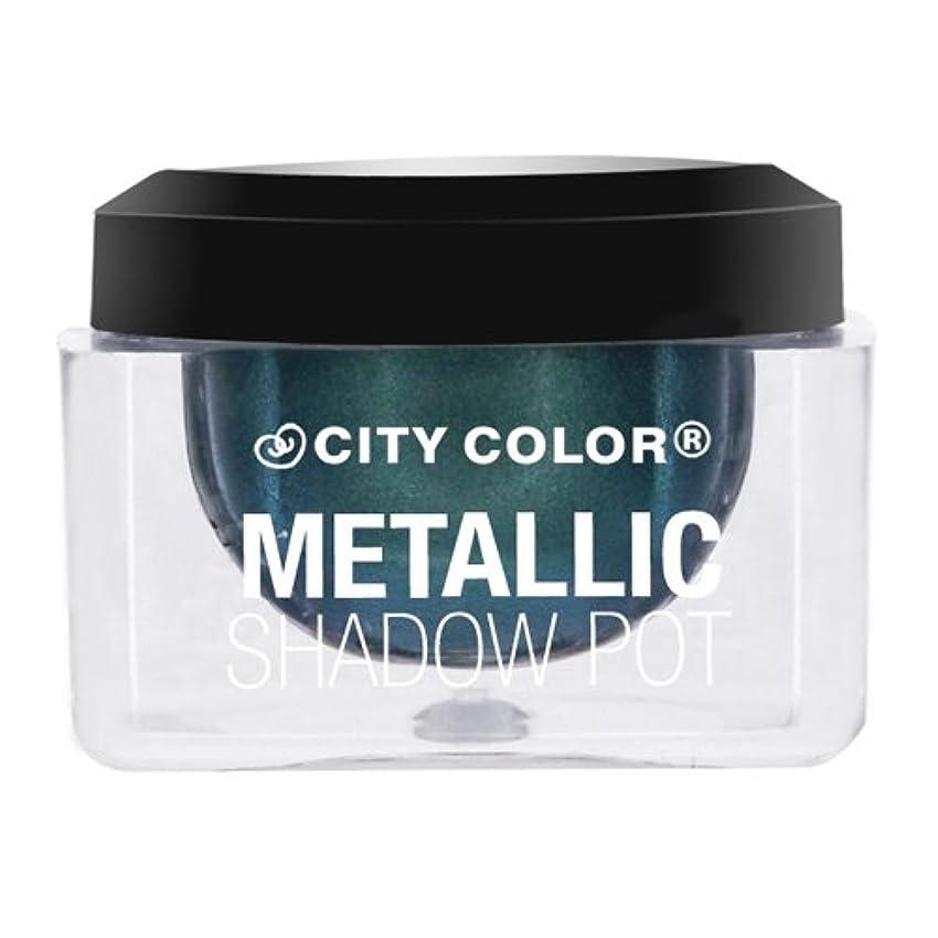 セント偏心分数(6 Pack) CITY COLOR Metallic Shadow Pot - Meteor Shower (並行輸入品)