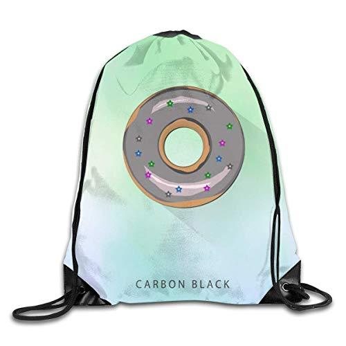 Bundle Backpacks Gym Drawstring Bags Delicious Salad Casual Women Men School Bag Training Daypack Pouch-CarbonBlack-OneSize