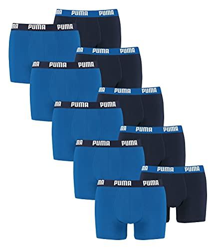 PUMA Herren Basic Boxer Boxershort Unterhose 10er Pack, Herbst/Winter 17/18,mt (New Trueblue/Trueblue, XXL)