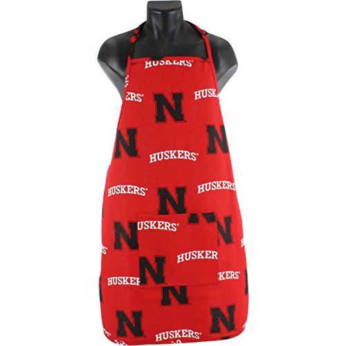 College Covers Nebraska Cornhuskers Tailgating or Grilling Apron with 9