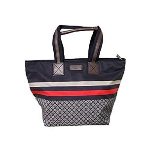 Fashion Shopping Gucci Unisex Brown Nylon Diamante Travel Tote Handbag 267922 8636