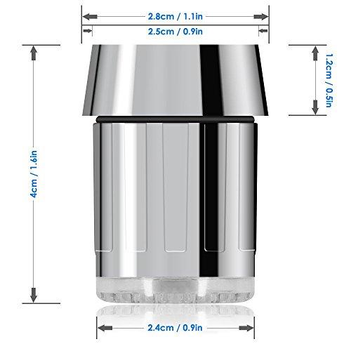 365-Shopping 2er Set 3-farbige LED Wasserhahn Design WaschtischarmaturenWasserhahnaufsatz Beleuchtung - 7