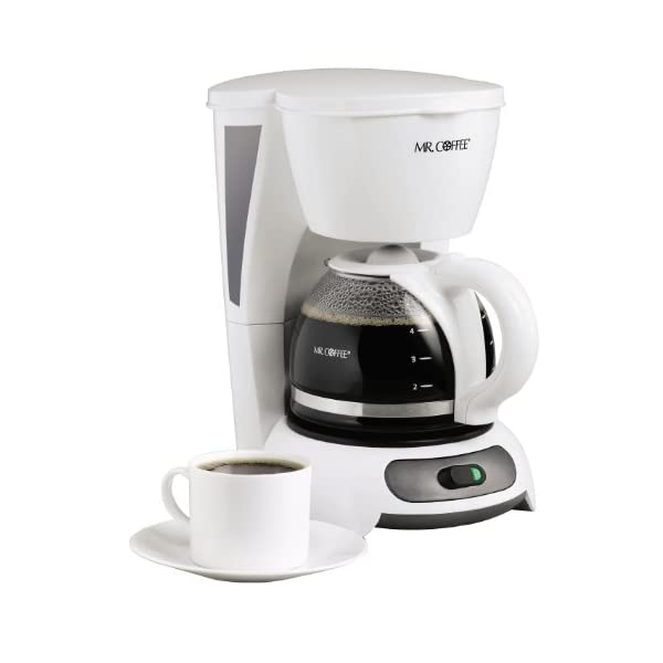 Mr. Coffee 4-Cup Switch Coffee Maker, White – TF4-RB