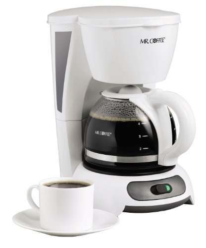 Mr. Coffee TF4-RB – Cafetera con interruptor de 4 tazas, color blanco