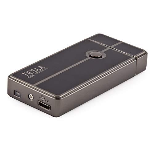 Product Image 1: Tesla Coil Lighters USB Rechargeable Windproof Arc Lighter (1. Gun Metal)