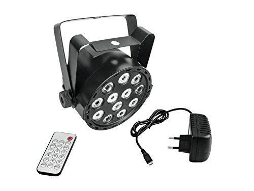 EUROLITE Akku Mini PARty RGBW Spot | LED Scheinwerfer mit Akkubetrieb | DMX | Musiksteuerung | Master/Slave-Funktion | Ladefunktion per USB | Mit Fernbedienung