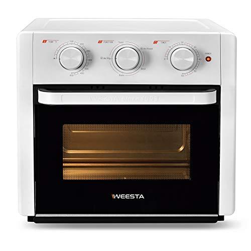 WEESTA 21QT Horno tostador de aire tostador Pro 5 en 1 encimera con horno de convección de aire fry tostadas tostadas con función de horneado para pollo frito, filetes, patatas...