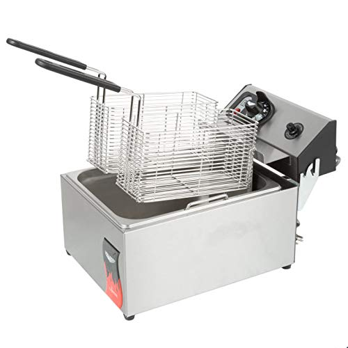 Vollrath (40706) 10 Lb. Standard-Duty 220V Electric Countertop Fryer - Cayenne Series