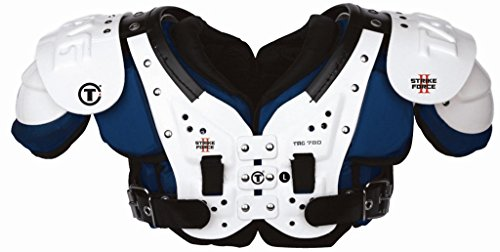 TAG Strike Force II 780 Football Shoulder Pad. Ideal for Quarterbacks, Wide Receivers, and Defensive Backs. (2X-Large) Navy