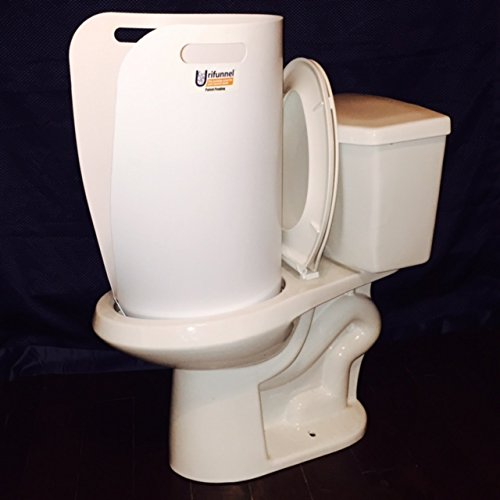 Urifunnel Portable Urinal Funnel for Men Converts Toilet into Urinal (Medium)
