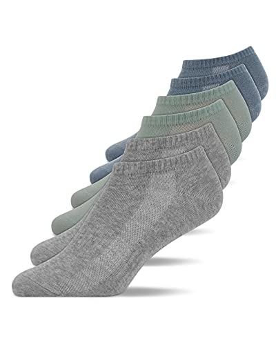 Snocks Sneaker Socken Herren und Damen (6x Paar) Füßlinge (39-42, 6x Mix3)