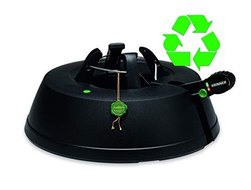 Krinner Recycling Christbaumständer Green Line M, 100% recyceltes Plastik, Schwarz, 36 cm