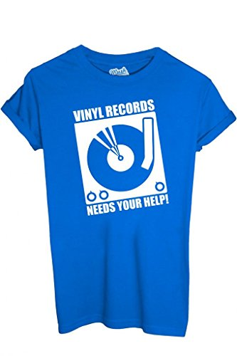 MUSH T-Shirt Disco Vinile - Musica by Dress Your Style Uomo-S