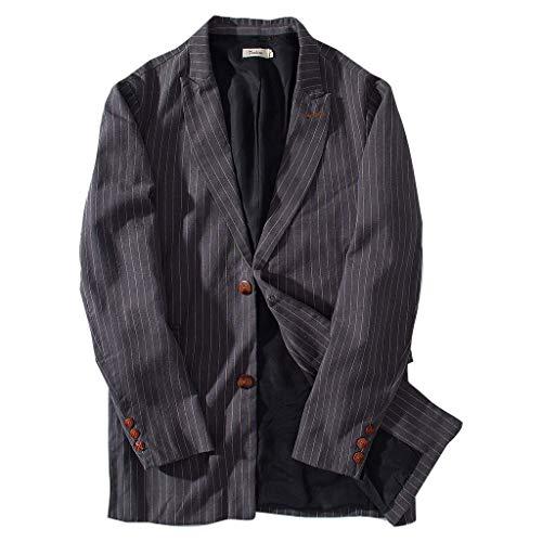Giacca Puro Lino Casual Aderente Slim Fit Leggera Blazer Giacche in Cotone Monopetto Giacca Casual a Due Bottoni Giacche Casual Suit Cappotto Solid Casual Top