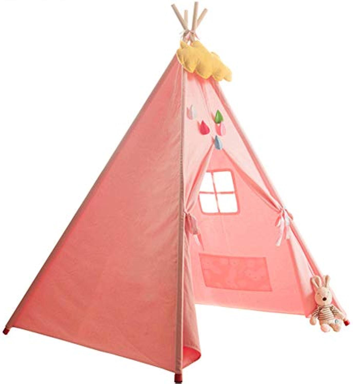 Qpzz Kinderzelt Spiel mit groen Raum mieten Junge Mdchen 3 Jahre alt Indoor Outdoor leicht zu zerlegen einfache Mode Urlaub Geschenk (47  55 )