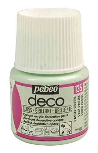 PEBEO Deco Pintura Brillante, Color Verde Pastel, 45 ml