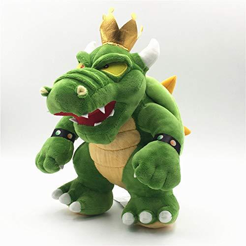 JMUNG Super Mario Green Mario King Bowser Koopa Peluches 30Cm, Regalos De Cumpleaos para Nios