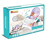 Multifunctional Liftable Rocking Chair with Dinner Plate Electric Portable Baby Swing Cradle for Infants Rocker Swing Chair with Music from The United States