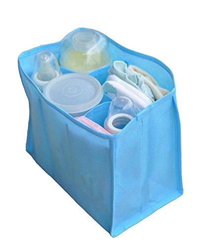 Gladiolus Multifunktions Baby Windel Aufbewahrungstasche Organizer Einsatz Baby Windel Wickeltasche Himmelblau L