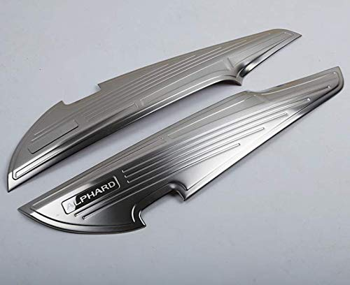 Toyota アルファード30系前期後期専用ドアキックガード ステンレス製 ドアトリム カバー キックガードマット 傷/汚れ防止 黒・銀 可! (シルバー) [並行輸入品]